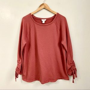 LOFT Lounge Rust Colored Oversized Sweatshirt M